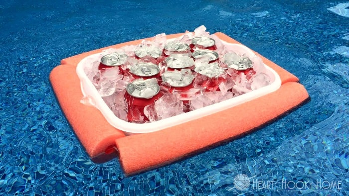 Homemade Floating Cooler using Pool Noodles