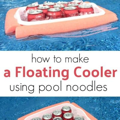 How to Make a Floating Cooler Using Pool Noodles