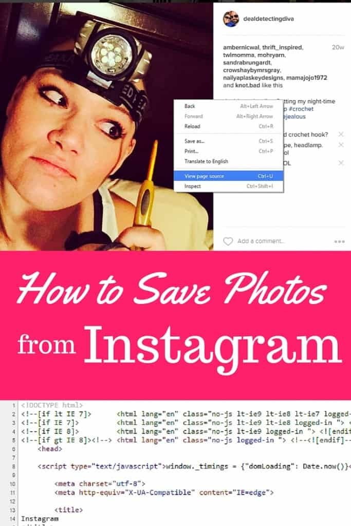 How to Save Photos From Instagram to Your Computer