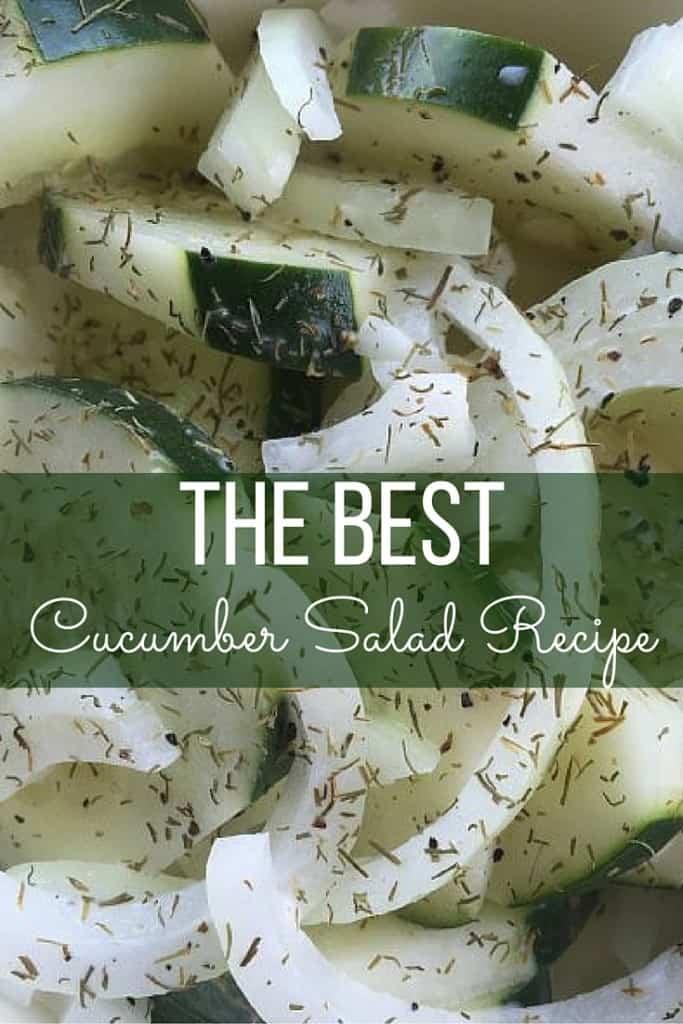 THE BEST Cucumber Salad Recipe
