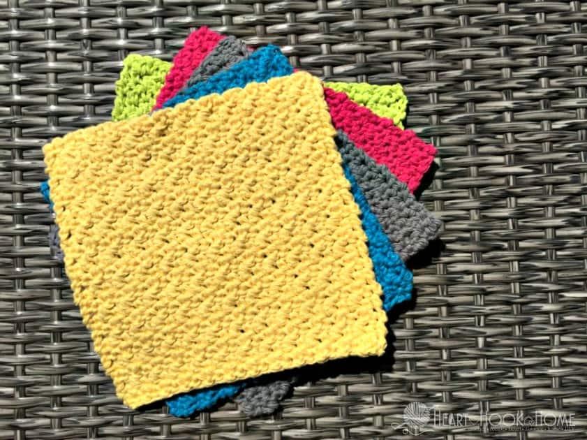 Quick Easy Dishcloth Or Washcloth Crochet Pattern