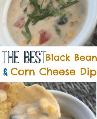 White Queso, Black Bean and Corn Dip Recipe