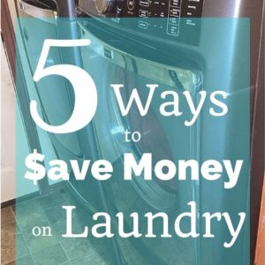 5 Ways to Save Money on Laundry