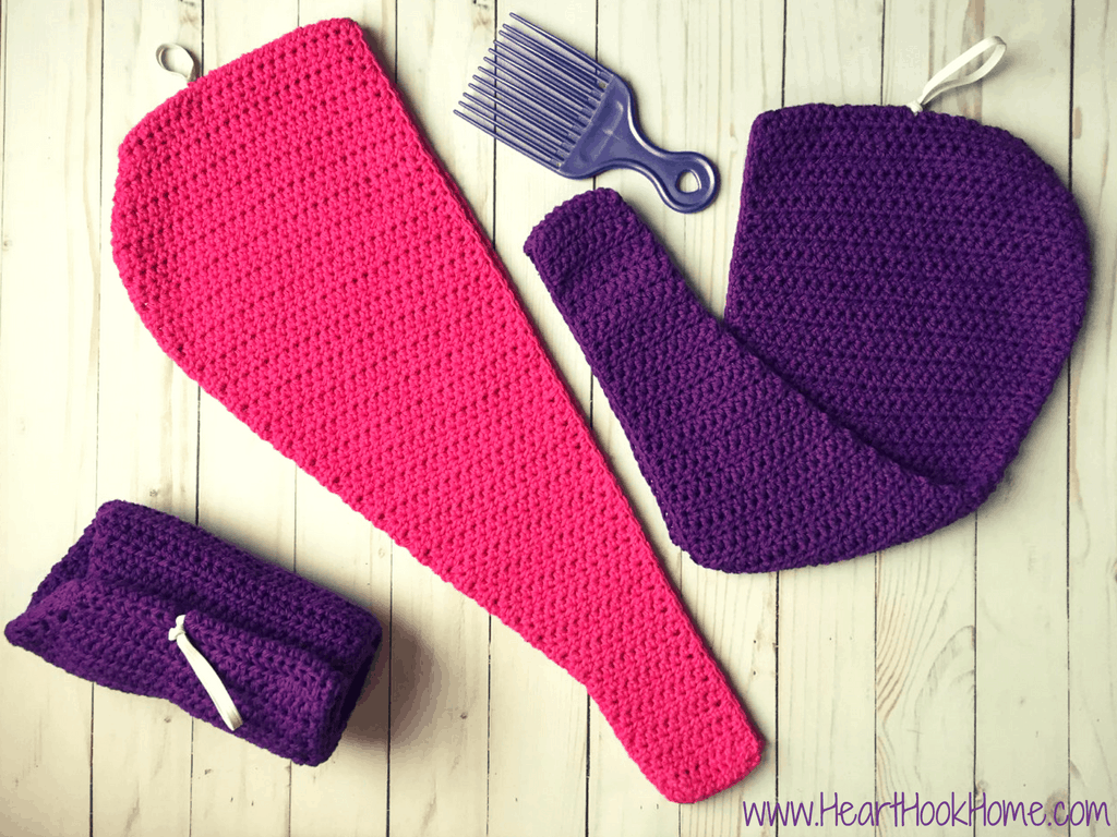 Hair Towel with a Twist {FREE Crochet Pattern}