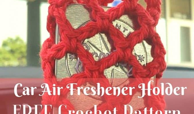 Scentsy Travel Tin Air Freshener Holder for Car {FREE Crochet Pattern}