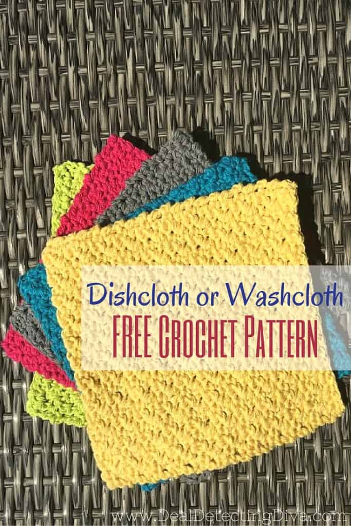 Dishcloth or Washcloth: FREE Crochet Pattern (Works up in 30 Minutes OR LESS)