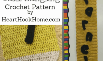 Pencil Wall Hanging for Teacher's Classroom – FREE Crochet Pattern
