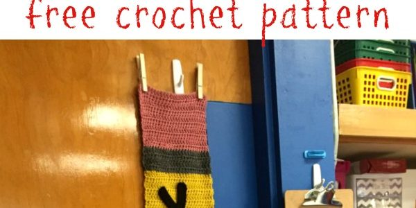 Pencil Wall Hanging for Teacher's Classroom Crochet Pattern