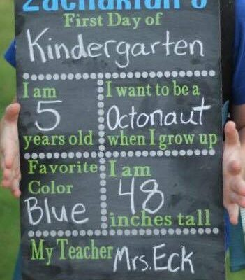 First Day Back to School Chalkboard