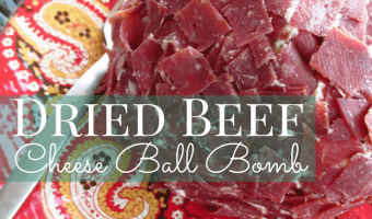 Dried Beef Cheese Ball Bomb