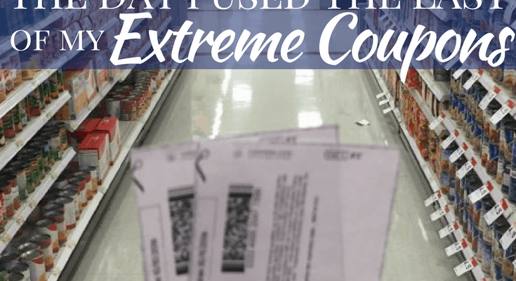 The Day I Used the Last of My Last Extreme Coupons