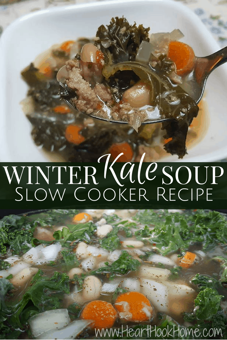 Winter Kale Soup Slow Cooker Recipe