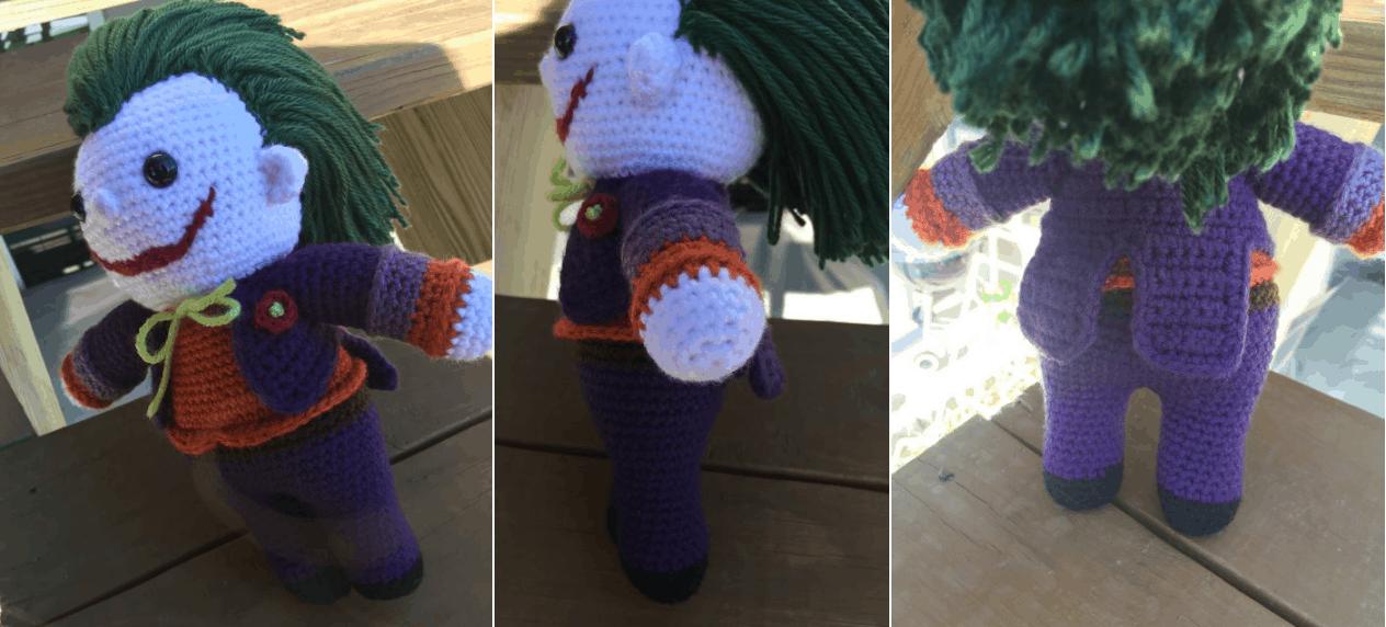 Batman Amigurumi Crochet Pattern Free : The Joker (Batman) Amigurumi Crochet Pattern