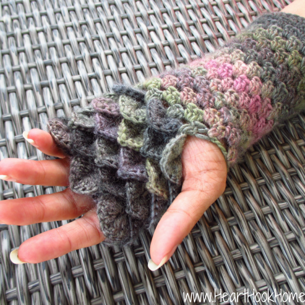 Dragon Tears Fingerless Gloves Crochet Pattern