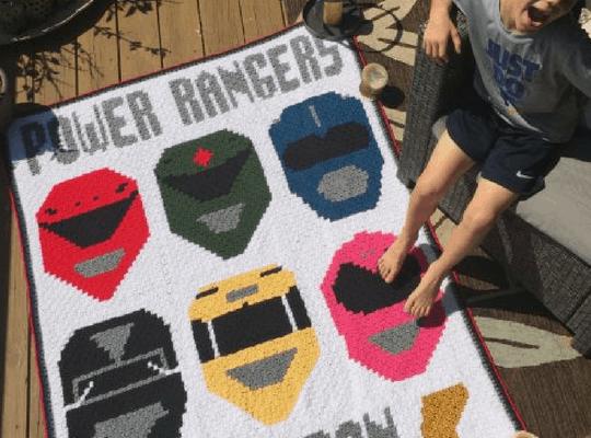 Power Rangers Corner to Corner (C2C) Graphgan (FINISHED!) + Block Patterns
