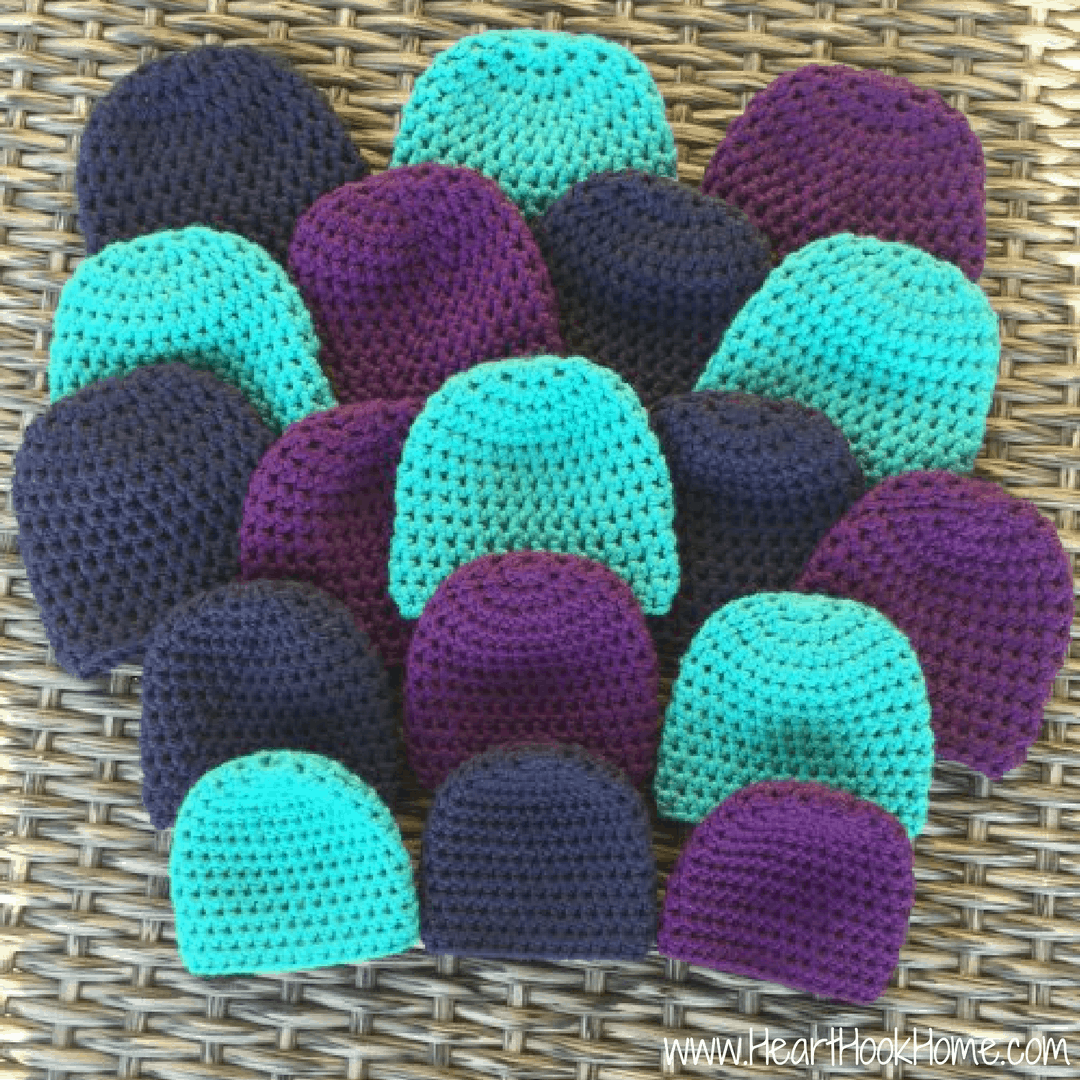 Beanie Hats for Preemie Babies Free Crochet Pattern