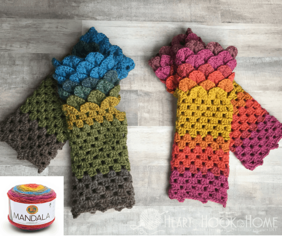 Dragon Tears Fingerless Gloves Crochet Pattern Heart Hook Home