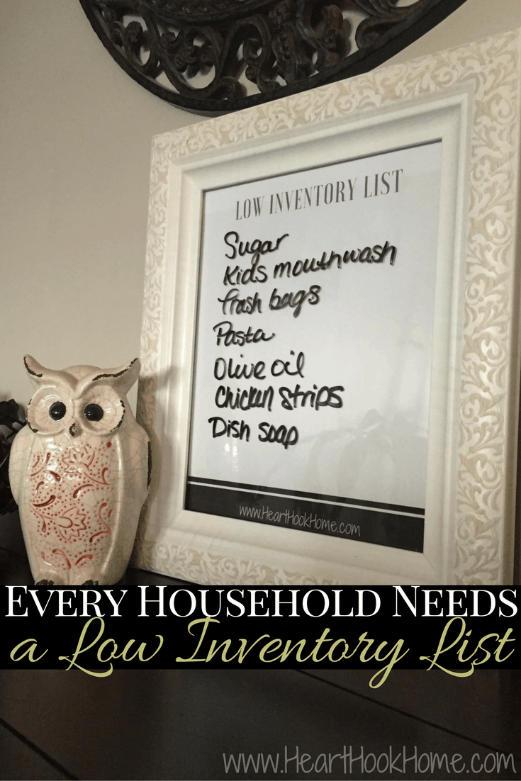 Why Every Household Needs a Low Inventory List