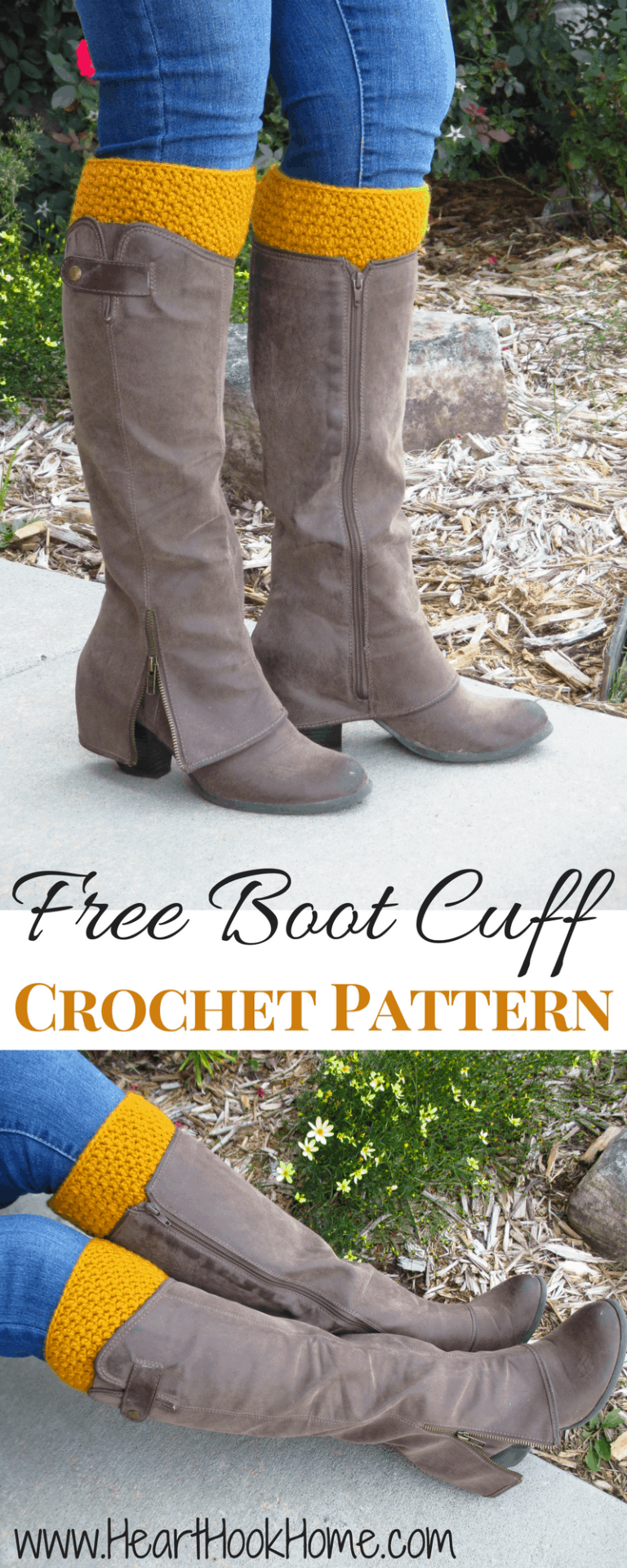 Reversible Boot Cuffs - Free Crochet Pattern