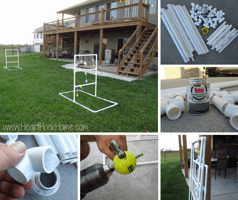 How to make a ladder golf game set using pvc pipe diy homemade ladder golf game hillbilly horseshoes solutioingenieria Gallery