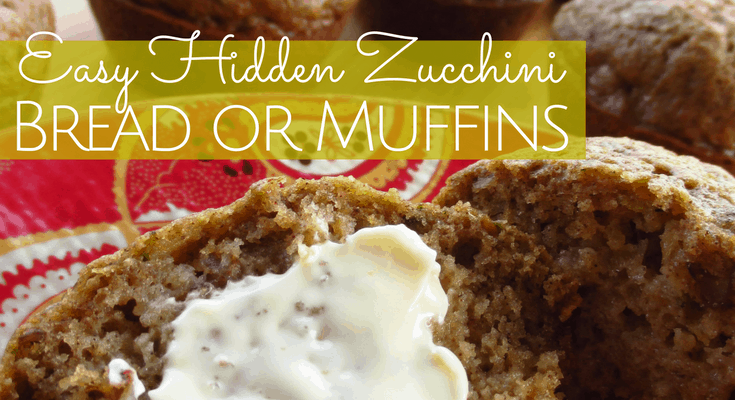 Easy Hidden Zucchini Bread or Muffins Recipe