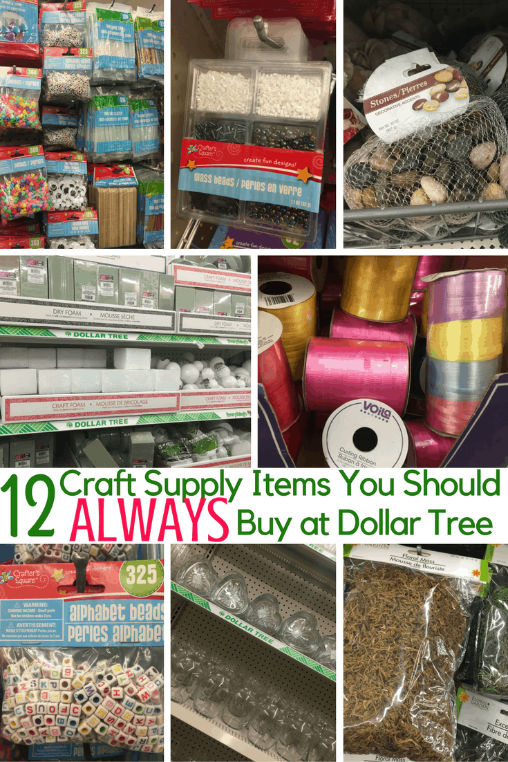 12 Craft Items to ALWAYS Buy at Dollar Tree