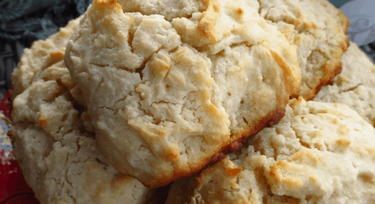 Three Ingredient Drop Biscuits :: Homemade and Buttery!