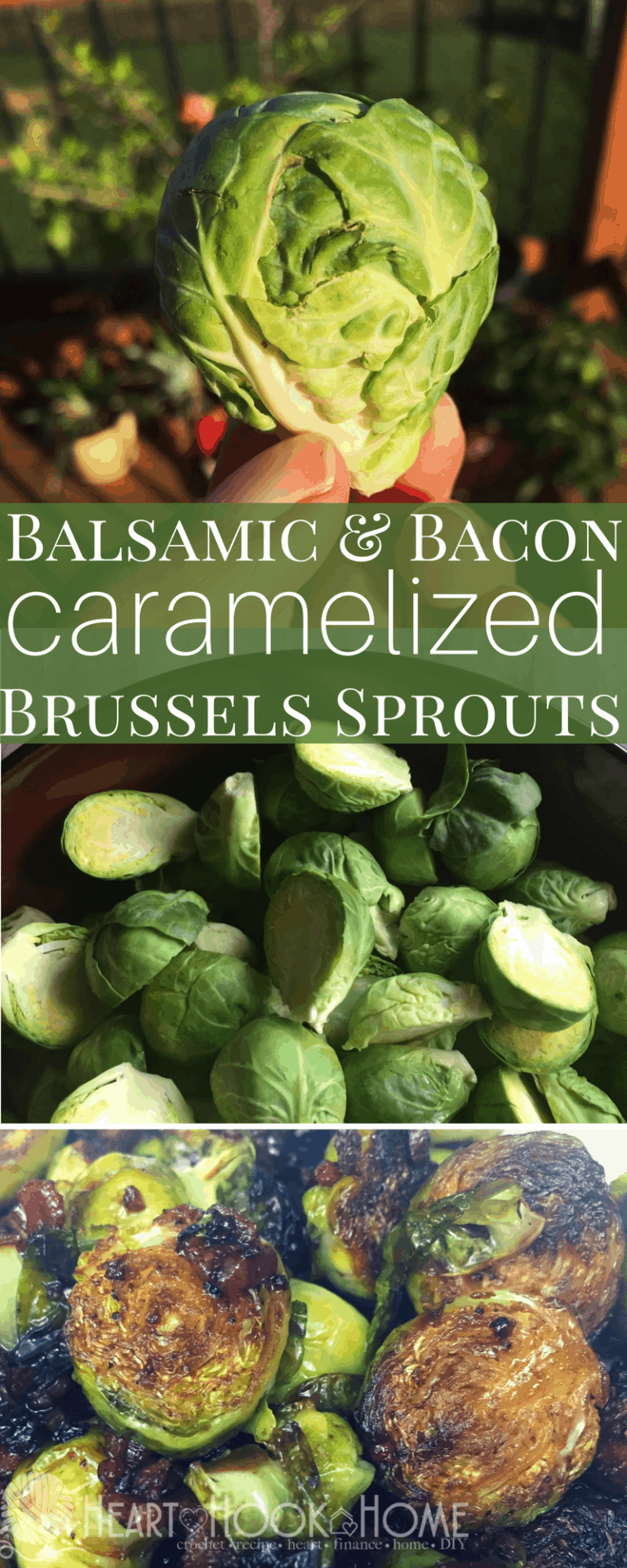 Caramelized Balsamic & Bacon Brussels Sprouts