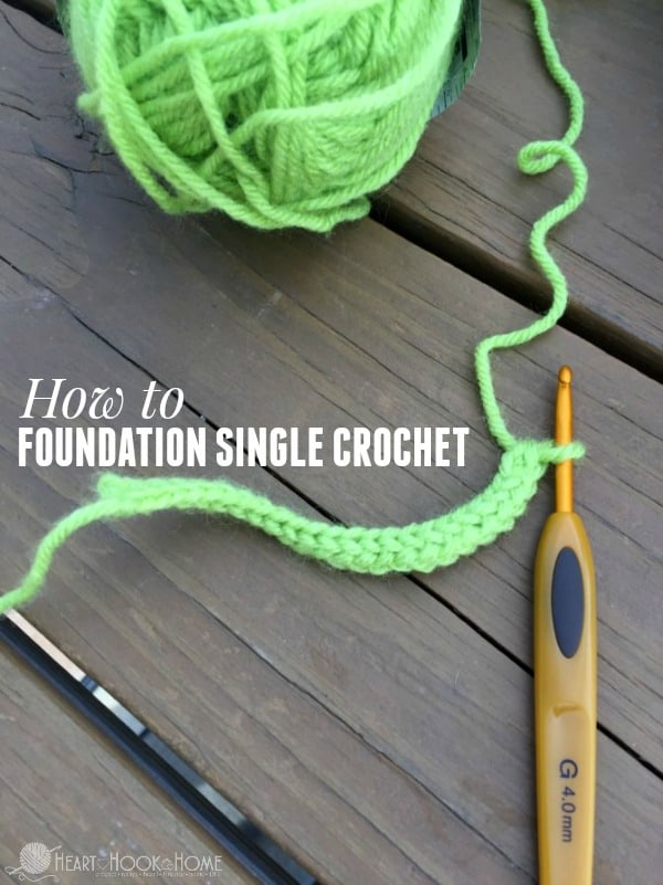 How to Foundation Single Crochet