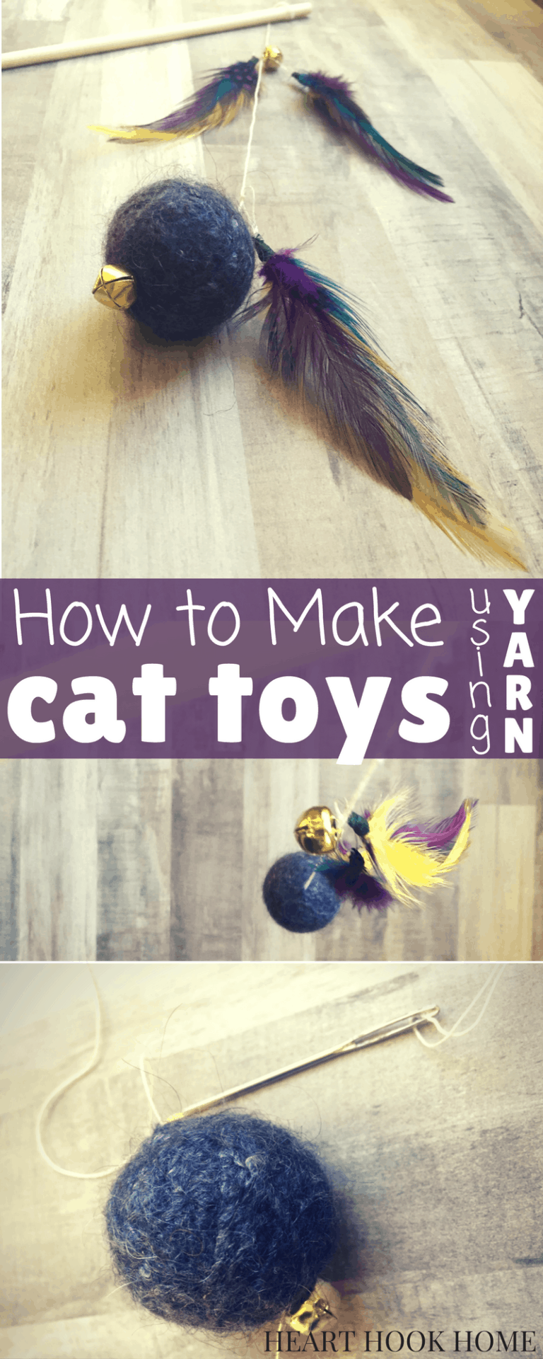 How to Make Cat Toys Using Yarn and Felting