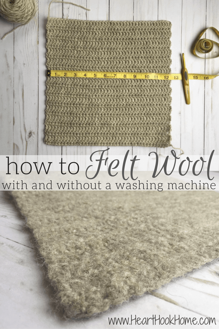 Felting: How to Felt a Crocheted or Knitted Piece