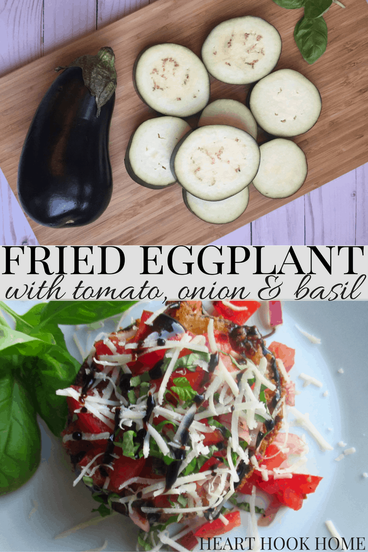 Fried Eggplant with Tomato Onion Salsa