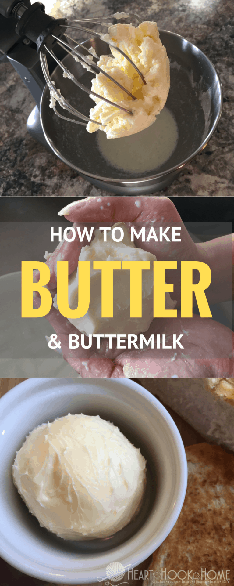 Homemade Butter (and Buttermilk!) Using a Kitchen Mixer