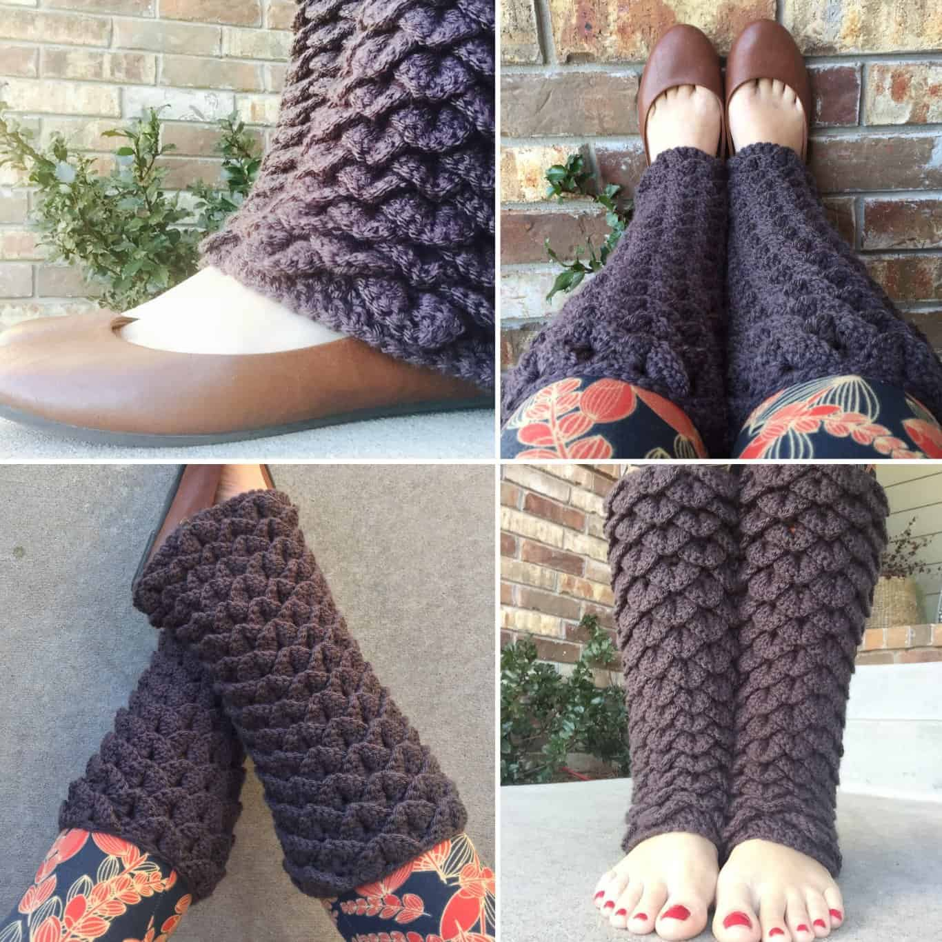 Dragon Tears Leg Warmers Crochet Pattern - Heart Hook Home