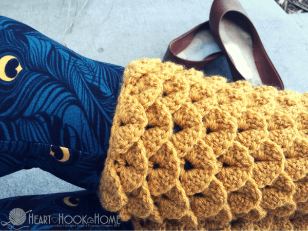 Dragon Tears Leg Warmers Crochet Pattern