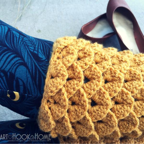 Dragon Tears Leg Warmers Crochet Pattern
