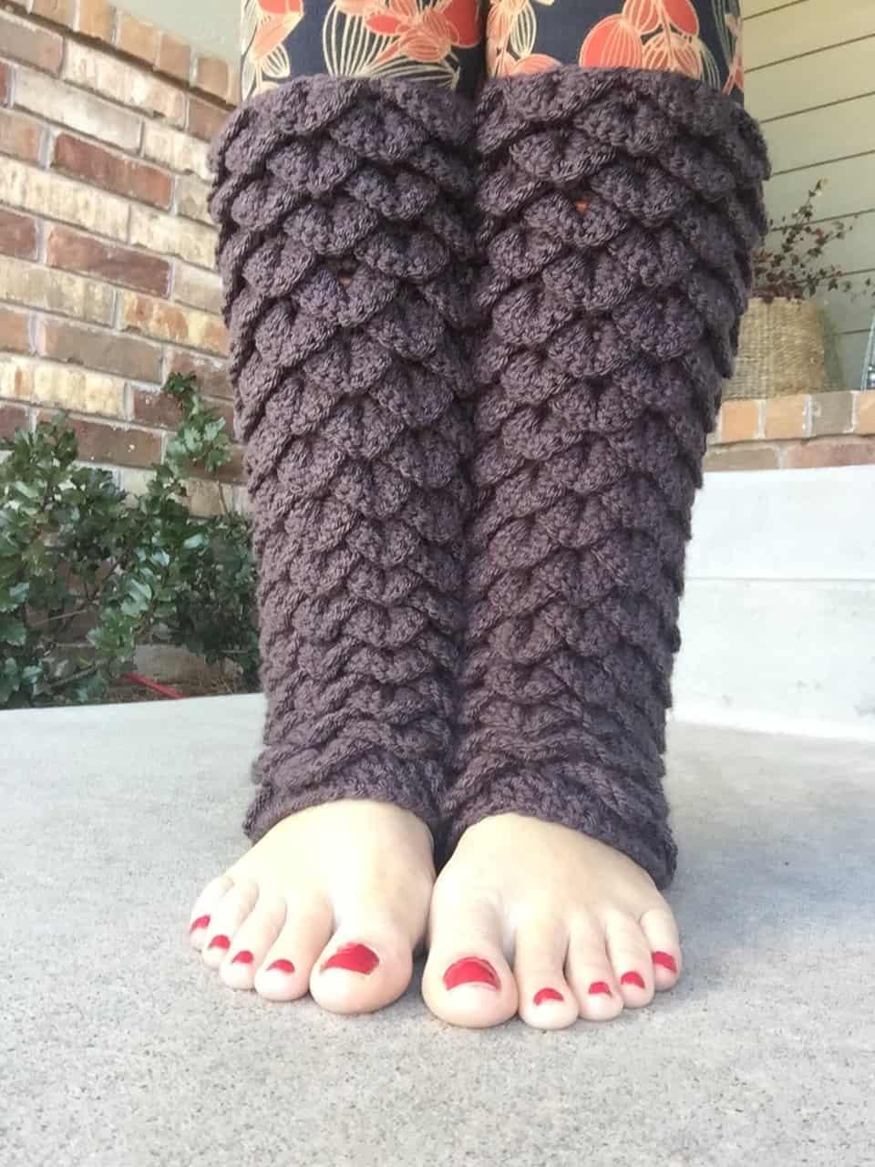 Dragon Tears Leg Warmers Crochet Pattern Heart Hook Home
