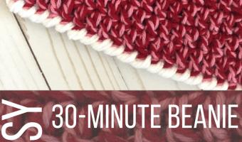 Child Size Easy 30-Minute Beanie Crochet Pattern