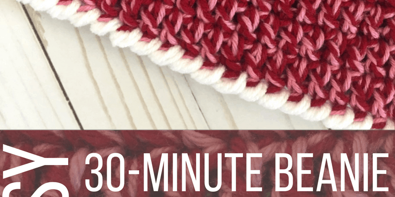 Child Size Easy 30-Minute Beanie Crochet Pattern