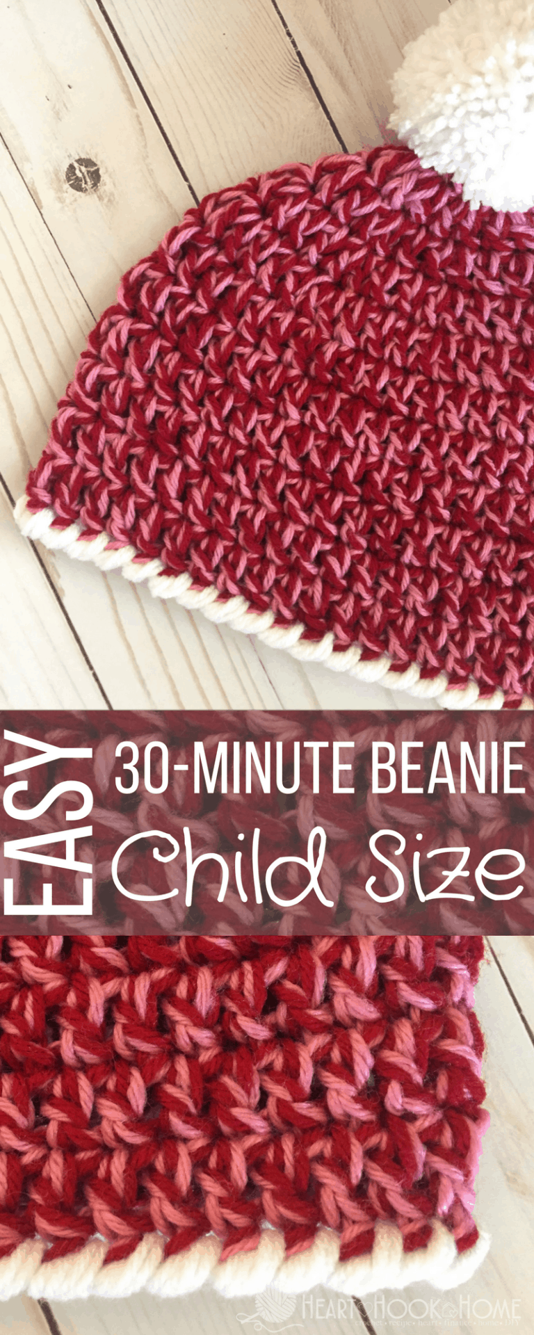 Easy Peasy And Fun: Child Size Easy Peasy 30-Minute Beanie Free Crochet Pattern