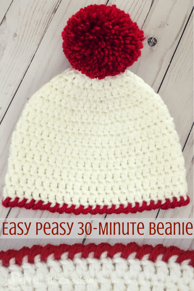 Easy Peasy 30-Minute Beanie Free Crochet Pattern f1e03048362