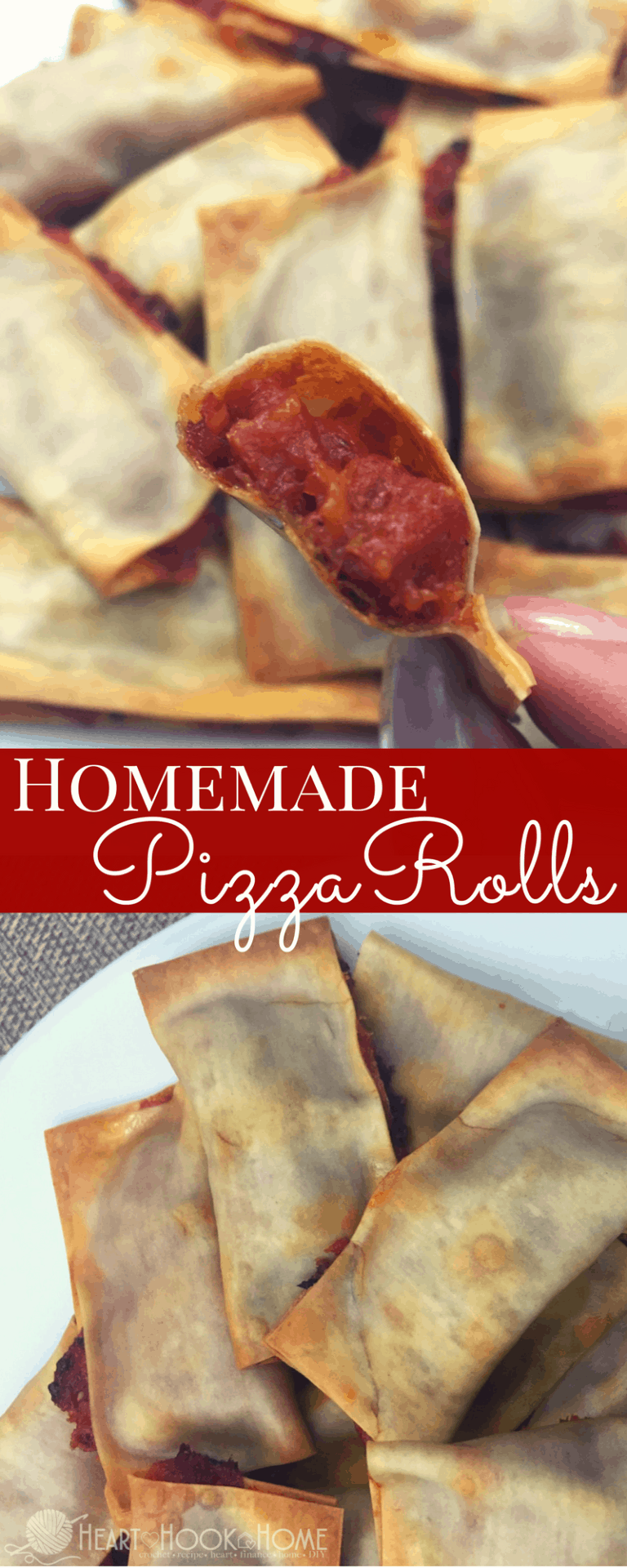 Homemade (Baked) Pizza Rolls