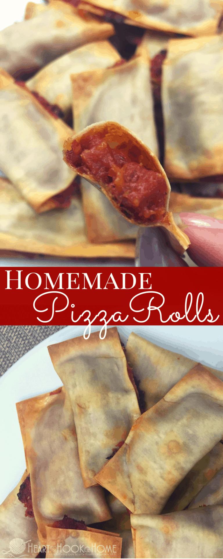 Homemade (Baked) Pizza Rolls
