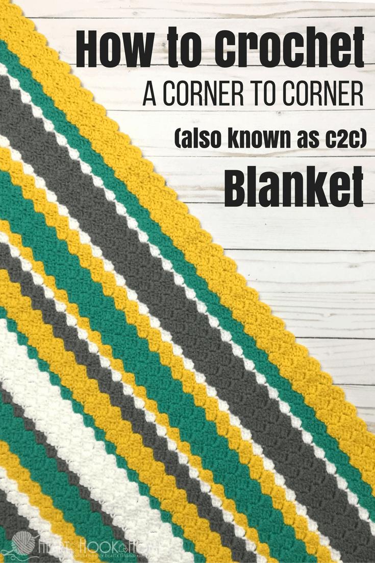 How To Crochet A Corner To Corner C2c Throw Video Tutorial