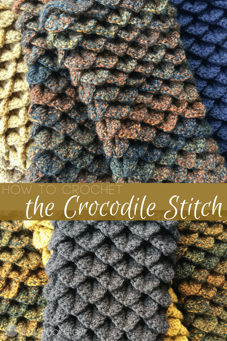 How To Crochet The Crocodile Stitch Video Tutorial