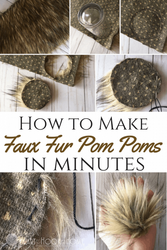 How to Make Faux Fur Pom Poms in Minutes