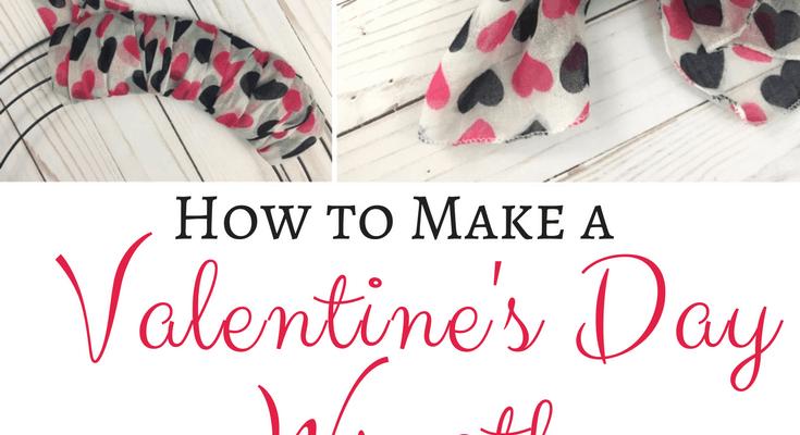 Inexpensive & Easy Valentine's Day Wreath Using Dollar Tree Items