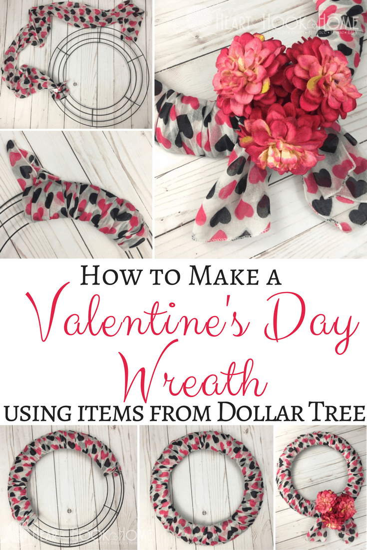 Inexpensive & Easy Valentine's Day Wreath Using Dollar Tree Items