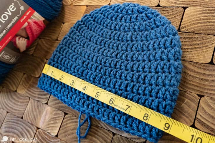 double knit hat pattern adult size