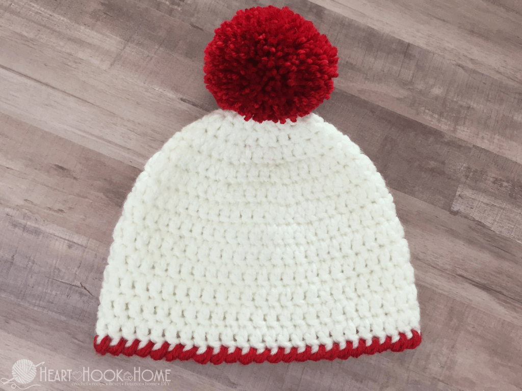 Easy Peasy 30 Minute Beanie Free Crochet Pattern